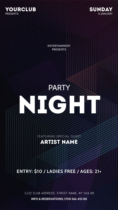 Party Flyer Instagram Story template