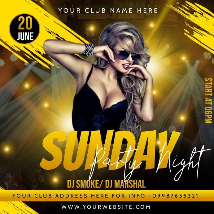 Party flyer Message Instagram template