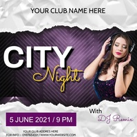 Party flyer Instagram Post template