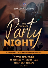 party flyer A3 template