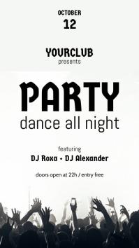 Party Flyer Instagram-verhaal template