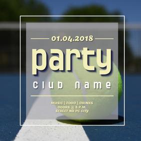 Party flyer instagram