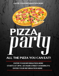 15 990 customizable design templates for pizza party postermywall