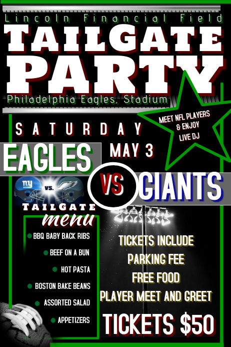 TailGate Party Flyer Template PosterMyWall