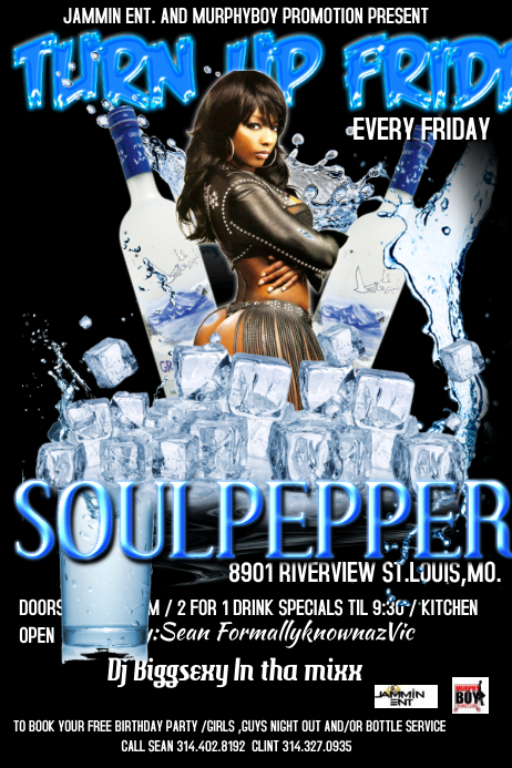 PARTY FLYER · Customize Template