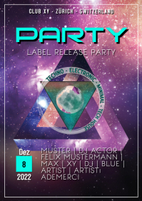 Party Flyer Template Electro
