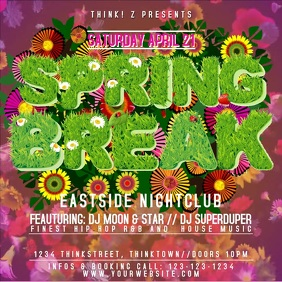 Party Flyer Template Spring Break Club