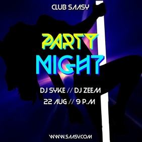PARTY FLYER VIDEO TEMPLATE