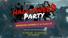 Party Halloween Facebook Cover Video