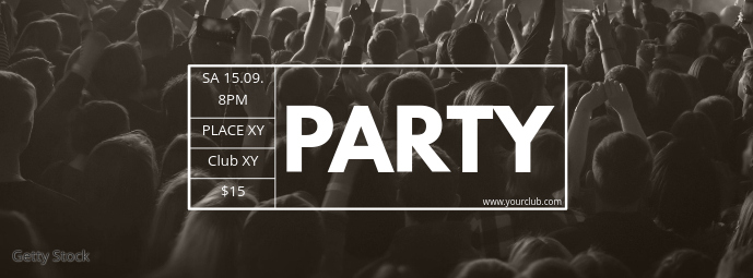 Party Header Concert Live Music Event Banner Cover na Larawan ng Facebook template