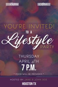 Party Invitation Etiqueta template
