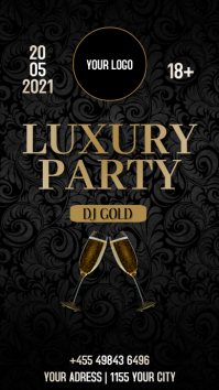 PARTY LUXURY Instagram-verhaal template
