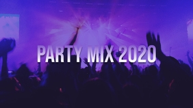 Party Mix Youtube Thumbnail template