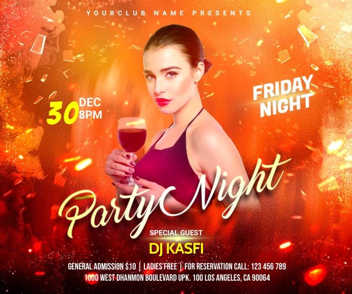 Party night Средний прямоугольник template