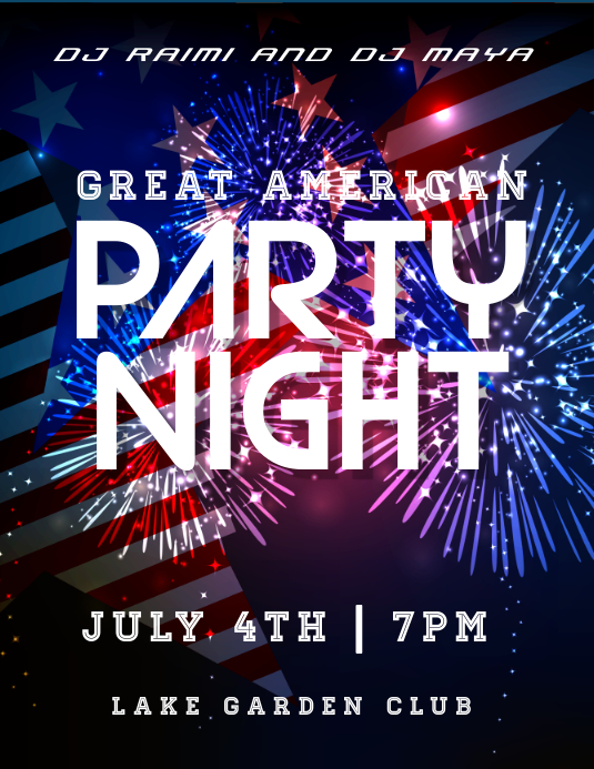 party night Folheto (US Letter) template