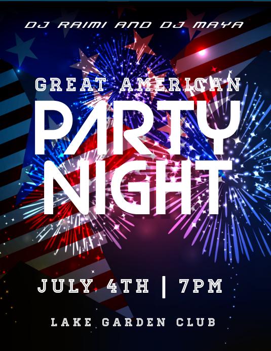 party night Рекламная листовка (US Letter) template