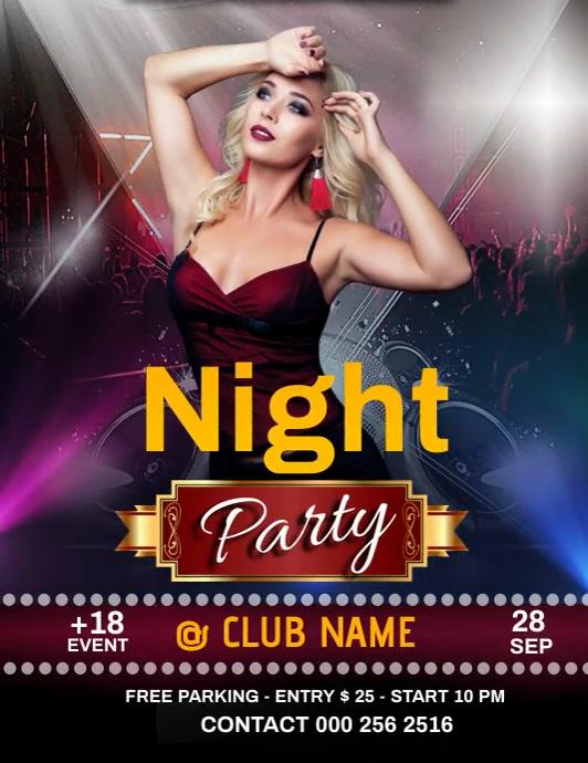 Party Night Iflaya (Incwadi ye-US) template