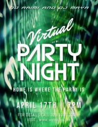 party night Flyer (US Letter) template