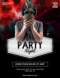 Party Night dj flyer design template