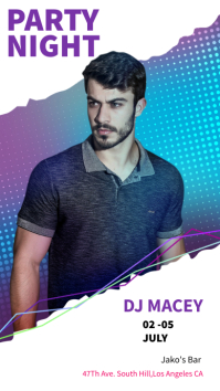 PARTY NIGHT DJ MACEY Instagram Story template