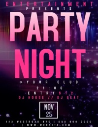 PARTY NIGHT EVENT FLYER TEMPLATE FREE