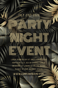 Party Night Event Poster Template