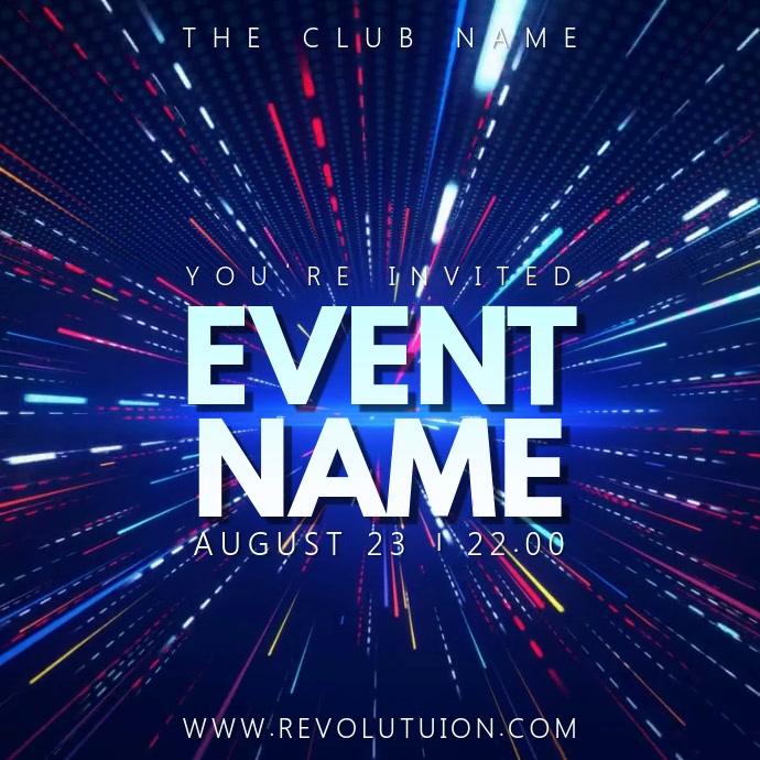 Party Night Event Video Template Message Instagram