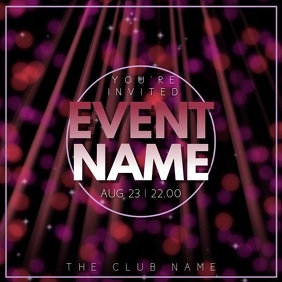 Party Night Event Video Template Instagram Post