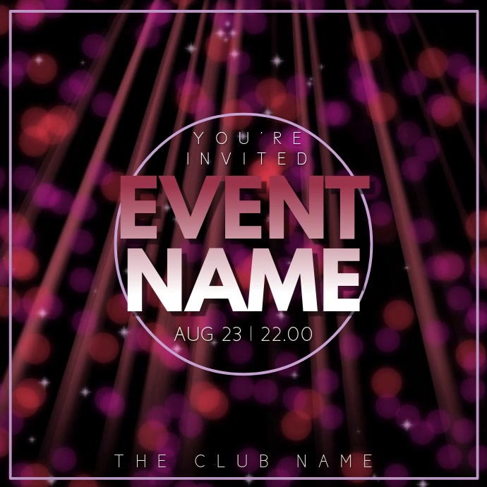 Party Night Event Video Template Instagram Plasing