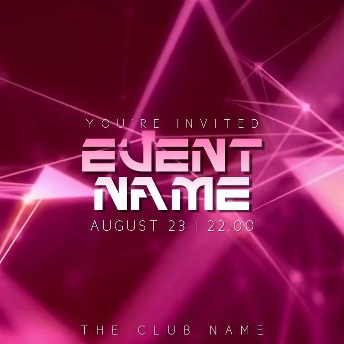 Party Night Event Video Template