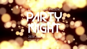 Party night facebook video flyer template Facebook-Covervideo (16:9)