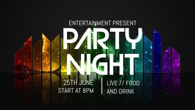 Party night facebook video flyer template