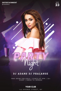 Party Night Flyer Design Template
