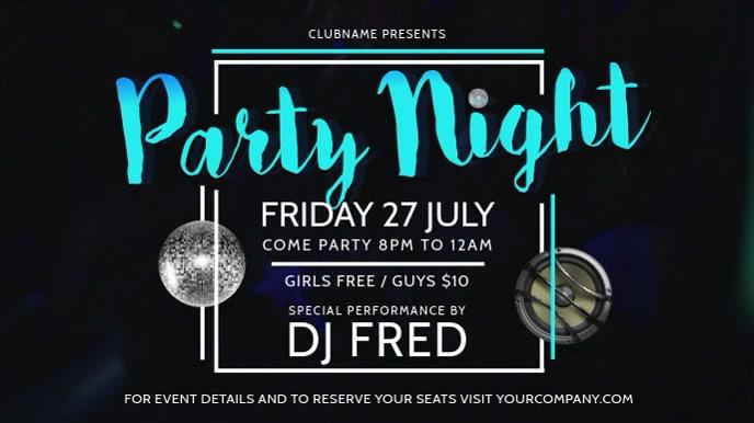 Party Night Horizontal Digital Display Video
