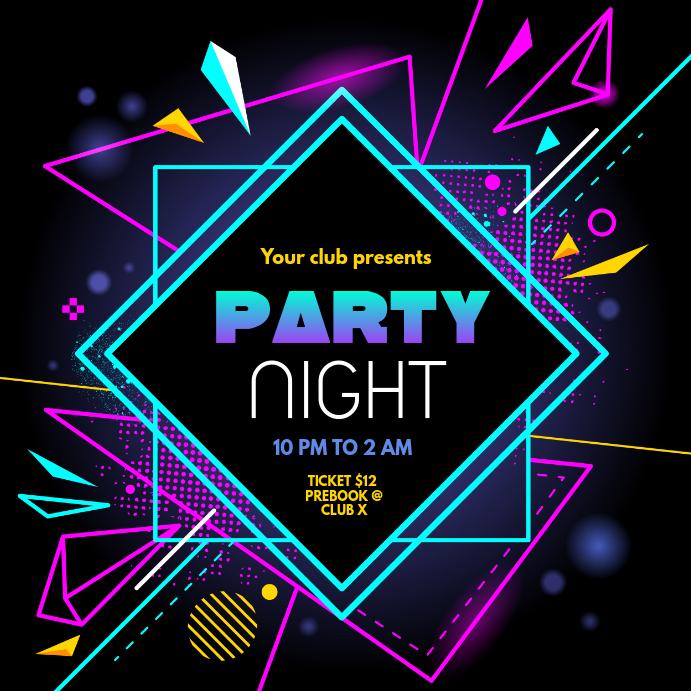 Party night instagram