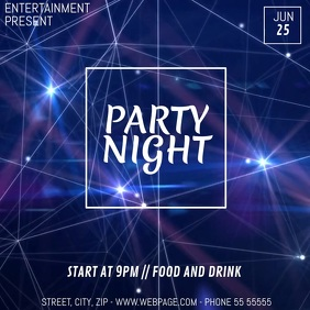 party night video flyer template