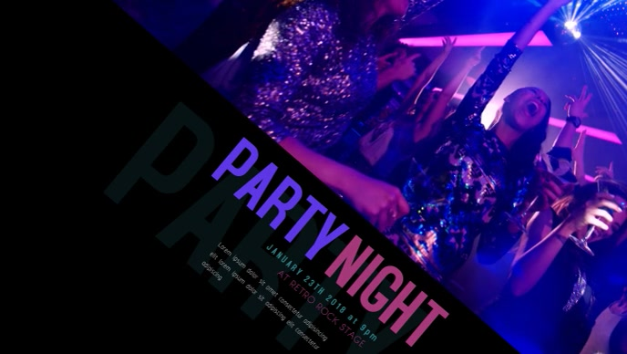 Party Night Video template for facebook cover