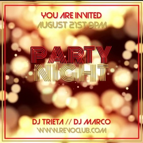 Party Night Video Instagram Template