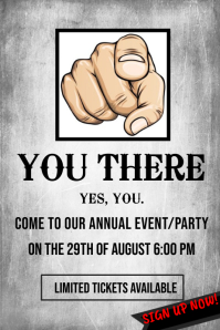 Party or Event Wanted Poster Template