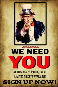 Party or Event We Need You template