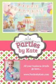 party planner event flyer advertisement invitation cupcakes template