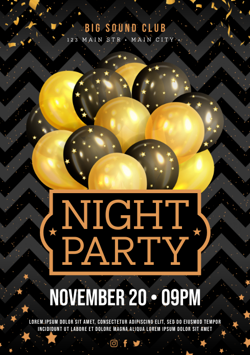 PARTY POSTER A4 template