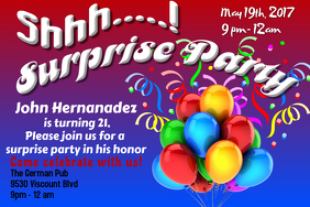 customizable design templates for surprise birthday party postermywall