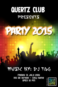 Better party poster template with an hologram 2D tag - Poster My Wall