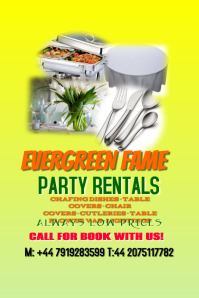 Party rentals template