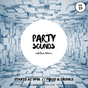 Party sounds flyer template