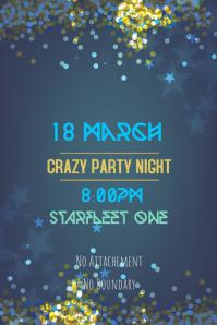 Party Flyer Star Fleet Theme