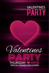 Party templates,Event poster ,Valentines poster templates