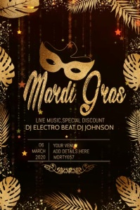 party video template,event template,Mardigras video flyer