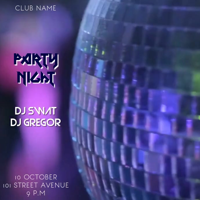 PARTY VIDEO TEMPLATE
